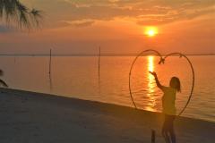Beautiful sunset on Brzee Beach on Bintan Island