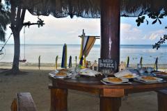 Lunch at the beach at Bintan